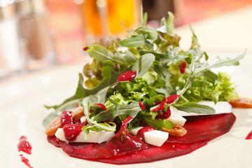 salad with beet and arugula