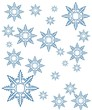 snowflakes mix background
