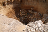 Sinkhole in the Dead Sea area
