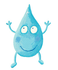 Funny Cartoon Water Drop
