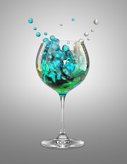 mix wineglass