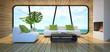 Modern interior of the beach house