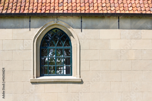 Church wall with a window
