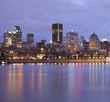 Montreal skyline at dusk, Quebec, Canada