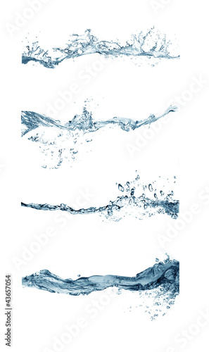 canvas print picture group of splashing water
