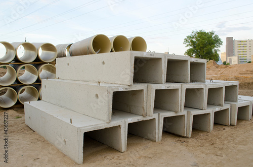 Concrete molds and plastic sewage pipes