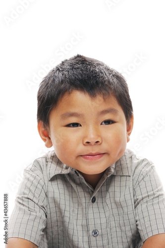 Cute Asian Boy Posing