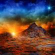 Leinwandbild Motiv Volcano