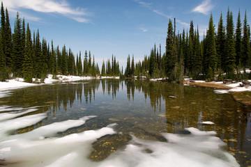 balsam lake auf dem revelstoke mountain
