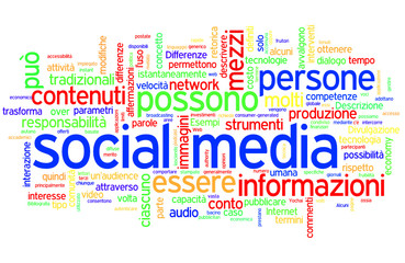 italian tag cloud social media