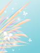 floral vector frame. Eps10