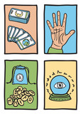 various types of fortune telling poster