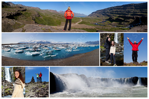 Montage Iceland Landscape People Outdoor Lifestyle