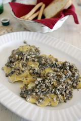 Italian ravioli with truffle