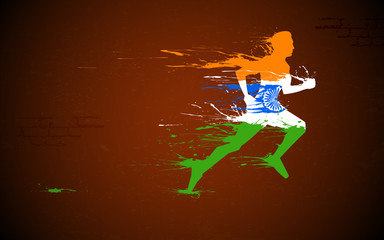 Runner in Indian Tricolor