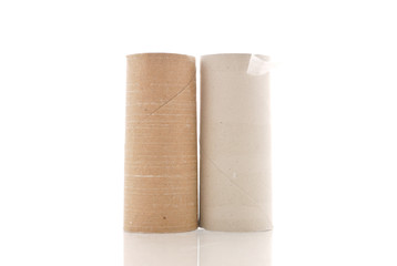 Two Empty Rolls of Toilet Paper