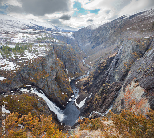 Voringsfossen waterfall, Norway. HDR