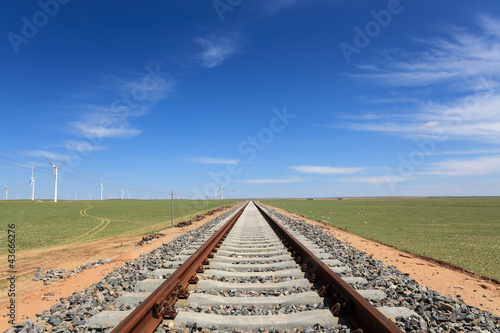 railway on the steppe