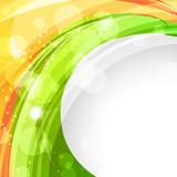 Fototapety wave style indian flag