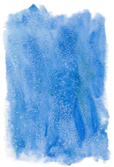 Blue watercolor background isolated on white background