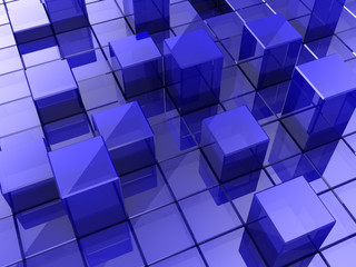 Background of cubes