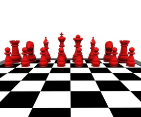 Chess 3d - Red