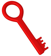 Red 3d key icon