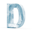 Icy Letters isolated on white background (Letter D)