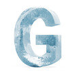 Icy Letters isolated on white background (Letter G)