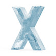 Icy Letters isolated on white background (Letter X)