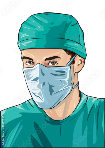 male doctor with surgical mask
