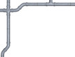 conduit in zinc optics on white background - 3D