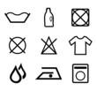 Symbole Reinigung