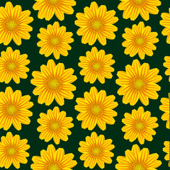 yellow chamomile pattern
