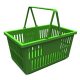 Green Shopping Basket