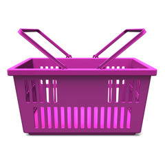 Purple Shopping Basket Front View