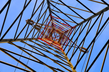electricity pylon, bottom view