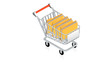 Shopping cart with computer folders