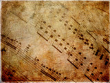 Musical scores grungy - 43680617