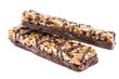 Chocolate Muesli Bars isolated