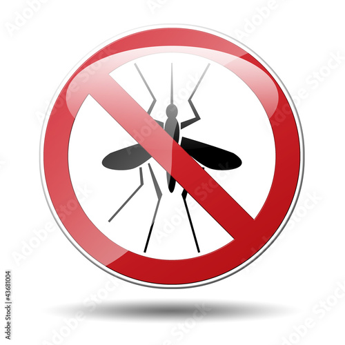 Señal trafico mosquitos no