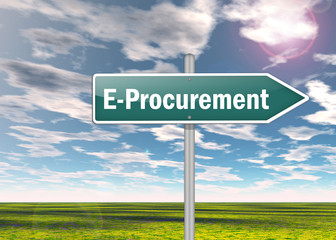 "Signpost ""E-Procurement"""