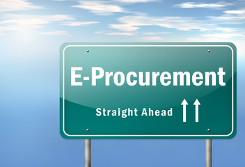 "Highway Signpost ""E-Procurement"""