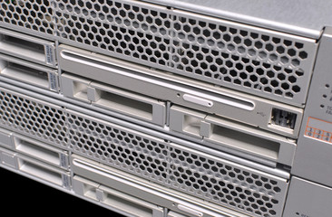 Serial Attached SCSI harddisk array of a large network server