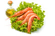 prawn on fresh salad