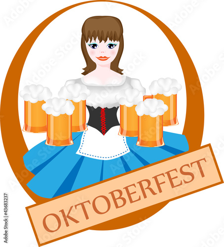 girl with beer, oktoberfest