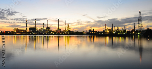 Panorama Bangkok Oil Refinery in Morning time
