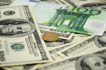 dollar, euro, penny