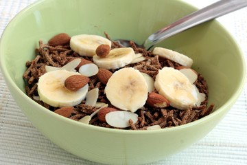 Bran cereal with fruit