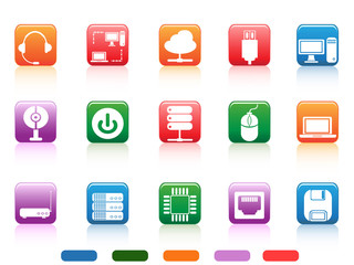 computer devices and components buttons icon